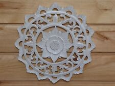 Wooden Painted Shabby Chic Floral Plaque 30cm....