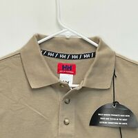 Helly Hansen Men's Golf Polo Beige XL NEW WITH TAGS
