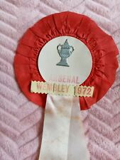 ARSENAL FC ROSETTE FROM 1972 FA CUP FINAL AGAINST LEEDS UNITED