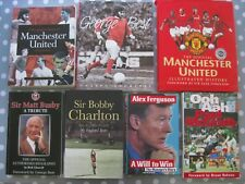 MANCHESTER UNITED Large Collection Of Books: Club Histories, Autobiographies etc