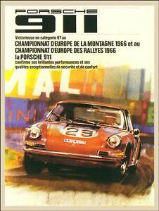 Vintage Porsche Car Motor Best Rallye Racing Print Poster Wall Art Picture A4 +