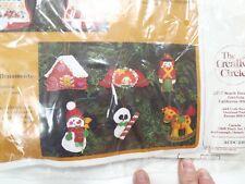 Embroidery KIT Toyland Ornaments Creative Circle NEW 6 Different - Felt