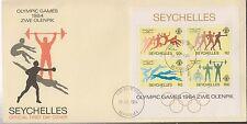 1103+ FDC ENVELOPPE 1er JOUR SEYCHELLES JEUX OLYMPIQUES 1984
