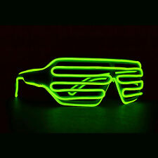 LED Shutter Glasses Light up glow bright 3 mode & SOUND ACTIVATED. Fast US Ship
