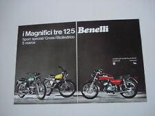 advertising Pubblicità 1973 BENELLI 125 2C/CROSS/SPORT