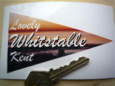WHITSTABLE classic car holiday window sticker 60's