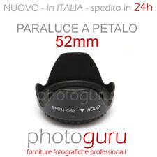 Paraluce a petalo 52mm universale per Canon Nikon Sigma Sony Tamron Pentax 52 mm
