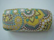 NEW VERA BRADLEY Sunglass Eye Glass Clam Shell Case Retired Lemon Parfait