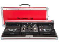 Pioneer 350 Pack - Set 2 CDJ 350 + 1 Mixer DJM 250 + Flight Case DJ Pioneer red