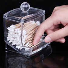 1x Clear Acrylic Cotton Swab Organizer Cosmetic Holder Q-tip Makeup Storage Case