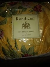 Ralph Lauren Kathleen Yellow Floral Queen Bed Skirt Nip