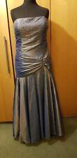 Grey Satin Formal Dress long sequins Size 20 Plus Size Drag Dame Panto fishtail