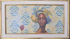 BEAUTIFUL Arthello Beck Original Painting African American Girl Texas Artist