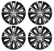 "4 x Wheel Trims Hub Caps 15"" Covers fits Fiat Punto Doblo Multipla Panda Stilo"