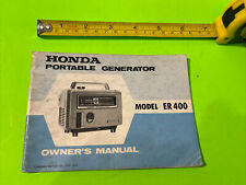 1971 Honda Model Er400 Portable Generator Owner Manual Er 400
