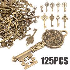 125pcs Vintage Santas Magic Antique Keys Fairy Angels Alloy Key Charms Decor UK