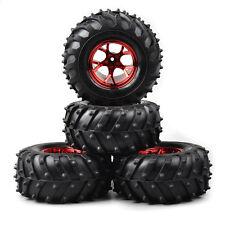 1/10 RC Bigfoot monster car Truck rubber tires tyre,metal wheel rim red
