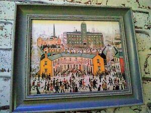 Ls Lowry 'VE DAY' Tattoo Antique Style Pigeon Blue Framed Print.