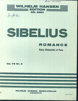 SIBELIUS - ROMANCE Op. 78 No. 2 - Piano und Violine ( Cello )