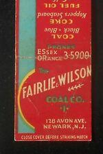 1930s The Fairlie & Wilson Coal Co. Koppers Coke Gulf Fuel Oil Avon Av Newark NJ