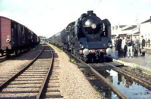 35MM SLIDE SNCF FRENCH STEAM LOCOS 1960,S