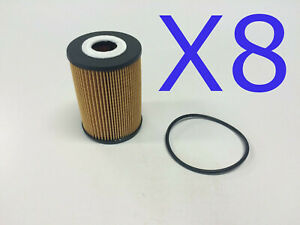8X Oil Filter Suits RENAULT 50 01 869 773 // (F2593