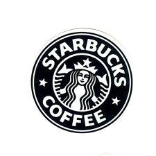 Vintage Starbucks Coffee black 7cm sticker decal (white area=transparent) #1349