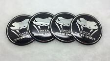 4X Fit  Dodge Fangs WHEEL CAPs Alloy  Racing EMBLEM Badges Stickers 56mm NEW 3D