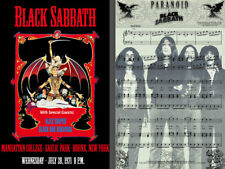 0376  Vintage Music Poster Art Black Sabbath Australian Tour 1989