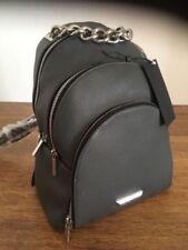 454f0b9661 Kendall Kylie Jenner Rucksack Backpack Handbag Grey Leather Siver Chain NEW