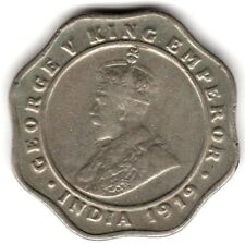 1919 L'Inde Britannique 4 Anna Coin *** collector ***