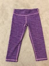 Ivivva. Rhythmic Crop. Purple Diamond Jacquard. Size 10.