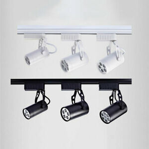 Industrial LED track light,3/5/7W Black White rail lamp for store shop mall home