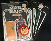 Star Wars Vintage Kenner Boba Fett 21 Back Cardback Lot Of 5 Zuckuss 1979