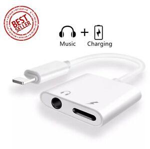 Lightning Aux Adapter 2in1 Splitter Klinke 3,5mm iPhone 12 11 X XS XR 8 7 6