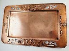 Rare Copper Jugendstil-Tablett, WMF Ostrich Hallmark,27x43 Cm. (1E4)