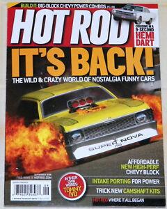 "VINTAGE ""HOT ROD"" MAGAZINE--SEPTEMBER 2008-""SPECIAL NOSTALGIA FUNNY CARS ISSUE""!"