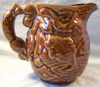 Dark Brown Fish Cabin Squirrel Handle Ceramic 20 oz Pitcher Canada