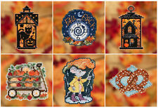 Cross Stitch ~ 2019 Mill Hill Autumn Harvest Collection Ornament Set (6 Kits)