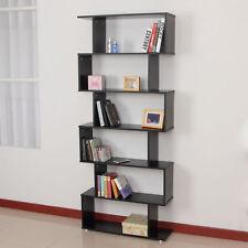 HOMCOM Standregal Bücherregal 6 Fächer Regal Raumteiler Wandregal Büro