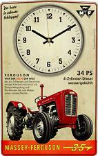 Oldtimer Wanduhr Motiv Massey Ferguson MF 35 Schlepper Geschenk Traktor Deko