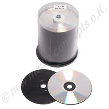 PLATA / Negro CD espacios en blanco CARBONO 100 unidades 80min 700MB 52x DE