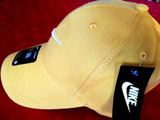 NIKE NEW GOLD BASEBALL CAP ONE SIZE FITS ALL EMBROIDERED LOGO AT FRONT & BACK