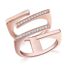 Bling CZ Crystal Cocktail Party Rings for Women Attractive Design Finger Jewelry