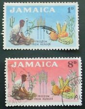 JAMAICA 1963: FREEDOM FROM HUNGER SET OF 2 USED STAMPS