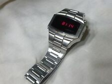 Working Vintage Men's Wittnauer Polara Longines LED Digital Watch Date Stainless