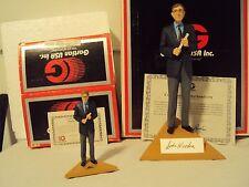 Gartlan John Wooden Hand-Signed Figurine, Plate, & Mini MINT w/COA's & Boxes!