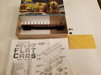 Vintage Athearn Model Train in Box - HO 1400 50 FT Flat Santa Fe
