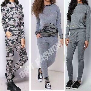Womens Ladies Camouflage LOUNGEWEAR Tracksuit SWEATSHIRT JOGGERS Pants lot D1