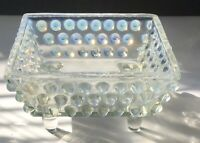Antique EAPG LaBelle Glass Co. Clear Opalescent Dew Drop Footed Butter Dish 🌹